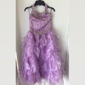 Purple customized dress